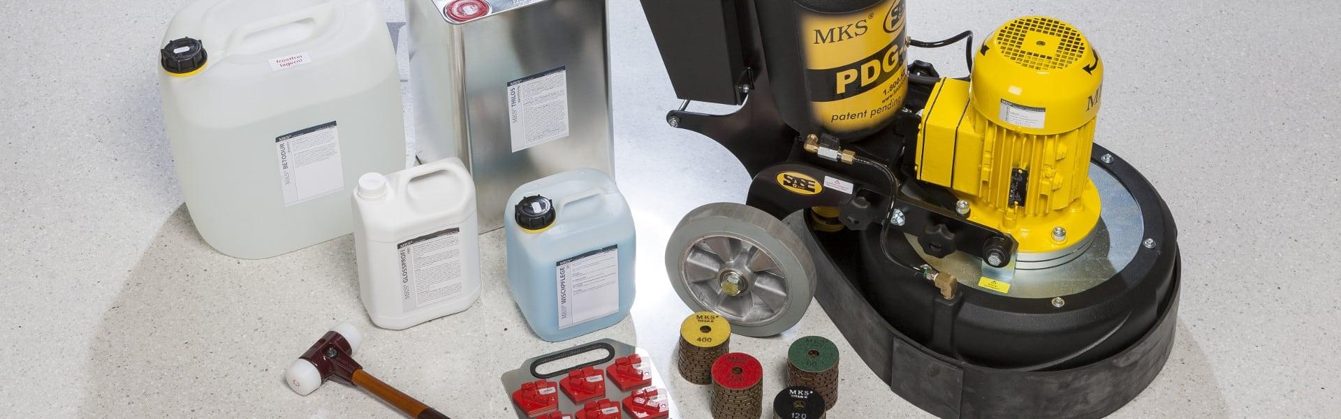 Schleifmaschinen und Zubehör zum Bodenschleifen