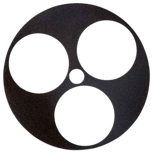 Kulissenschablone 3 x 80 mm mit Kletthaftung