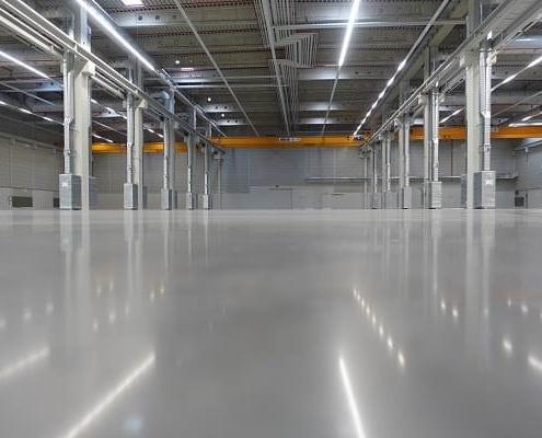 Optimierter Industrieboden