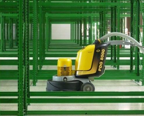 Optimierter Industrieboden in Hochregallager