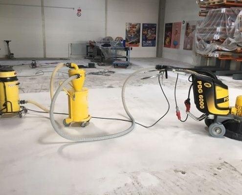 Untergrundvorbereitung Lagerhalle
