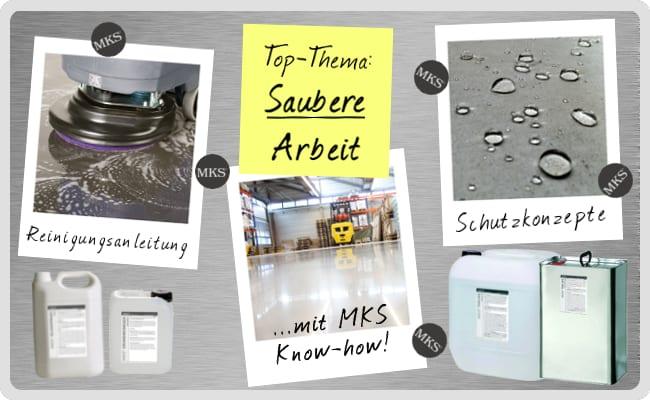 MKS Top-Thema Saubere Arbeit